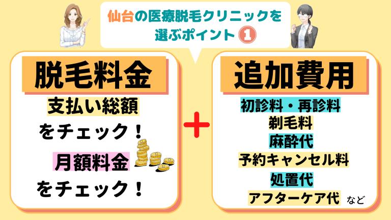 仙台の医療脱毛クリニックを選ぶポイント1