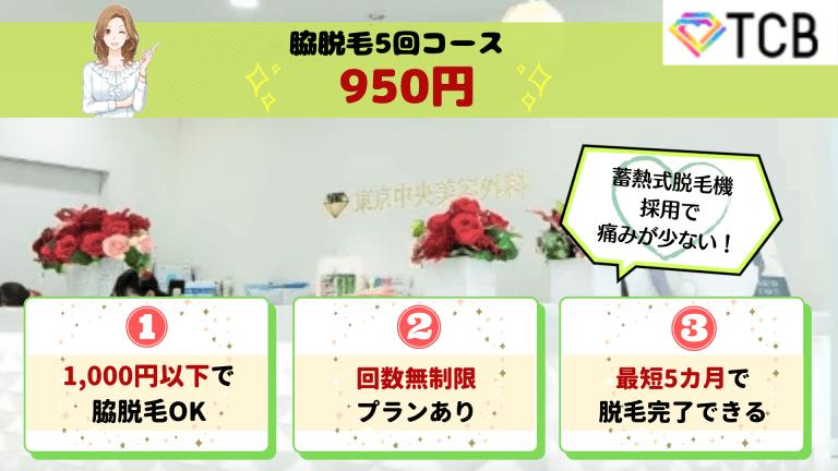 TCB東京中央美容外科新宿脇脱毛紹介画像