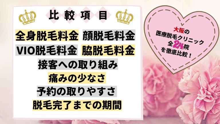 大阪の医療脱毛クリニック全24院を徹底比較!