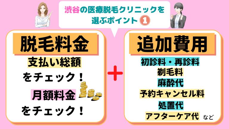渋谷の医療脱毛クリニックを選ぶポイント1