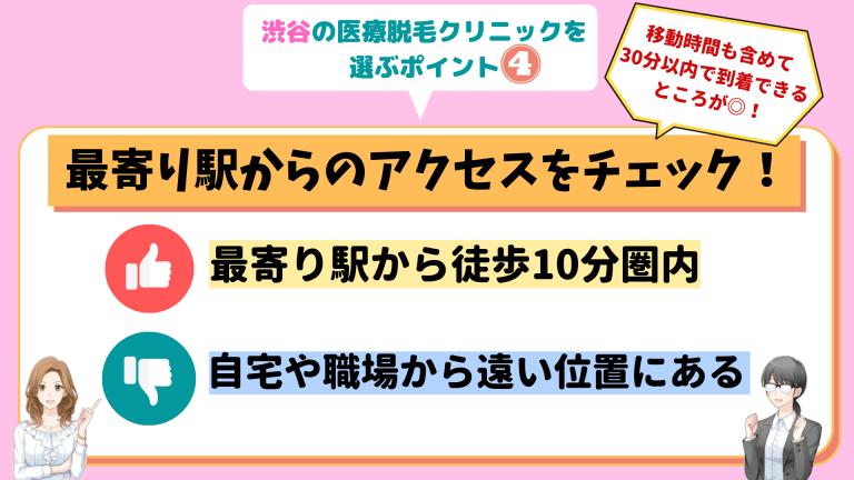 渋谷の医療脱毛クリニックを選ぶポイント4