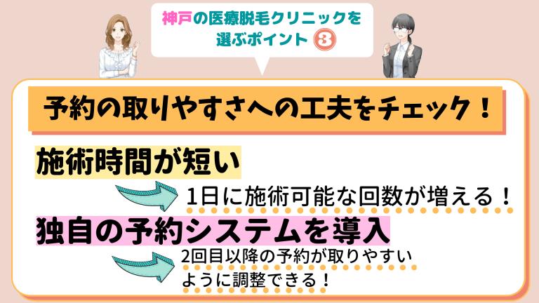 神戸の医療脱毛クリニックを選ぶポイント3