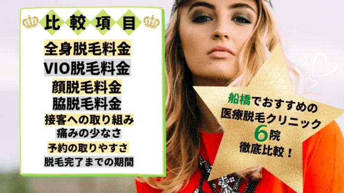 船橋の医療脱毛クリニック全6院を徹底比較!