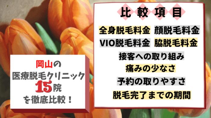 岡山の医療脱毛クリニック15院を徹底比較!