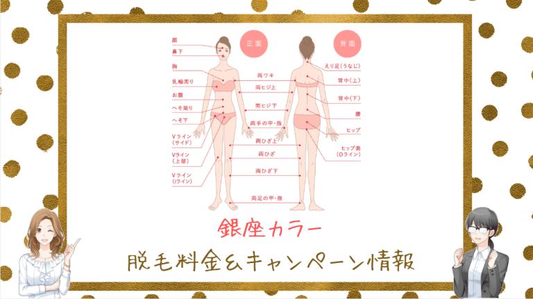 銀座カラーの脱毛料金&キャンペーン情報
