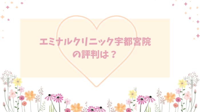 エミナルクリニック宇都宮院口コミ評判