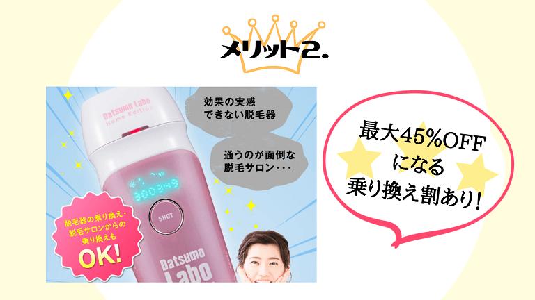Datsumo Labo Home Edition公式サイト購入メリット2