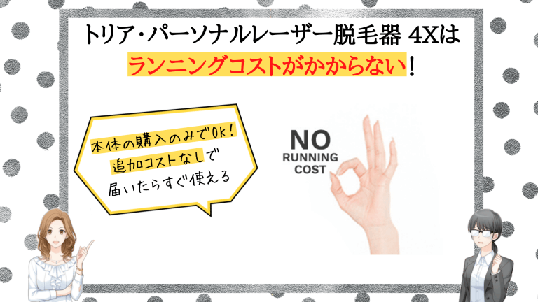 トリア・パーソナルレーザー脱毛器 4X魅力4