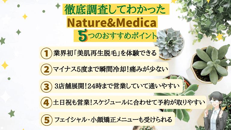 Nature&Medicaおすすめポイント