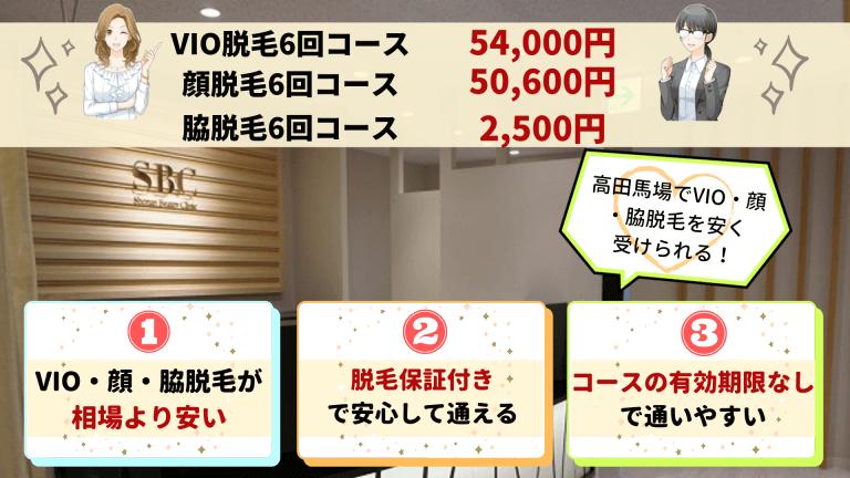 湘南美容クリニック高田馬場VIO・顔・脇紹介画像
