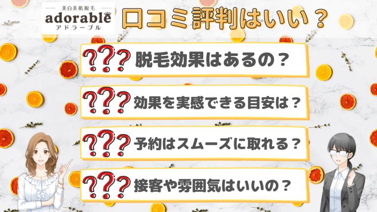 アドラーブル口コミ評判