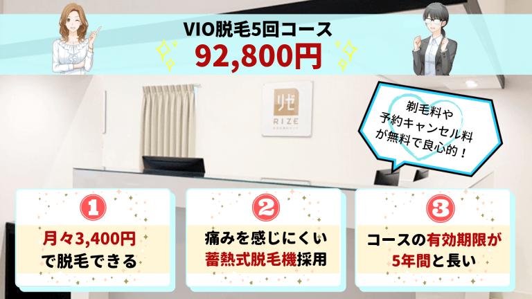 リゼクリニック銀座VIO紹介画像
