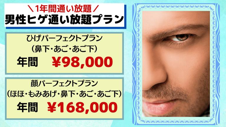 上野皮ふ科の男性ヒゲ通い放題プラン