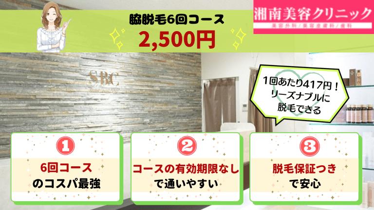 湘南美容クリニック四条・烏丸脇脱毛紹介画像